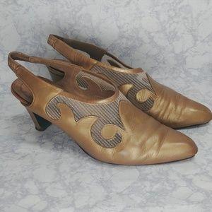 Rare Vintage Stuart Weitzman Pointed Toe Slingback